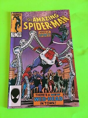 Amazing Spiderman 263 FIRST Appearance of Spider-Kid! Key! Black Cat App! Nice!