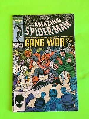 Amazing Spiderman 284 Gang War Part One! Key! First Appearance Blue Boys! Nice!