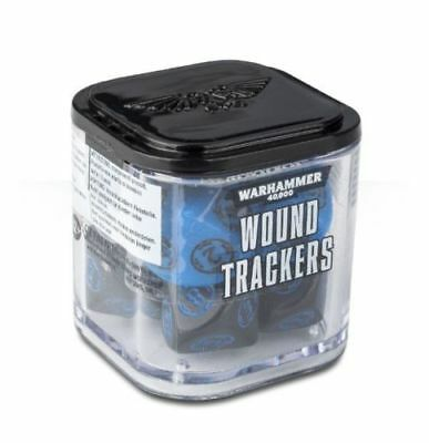 Warhammer 40K - Wound Trackers 8ct - Blue & Black - Brand New - Free Shipping