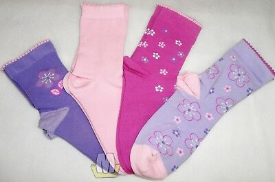 4 Pair Multi Style BHS Socks Girls Pink Purple Multi Pattern Children Ladies