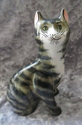 Wemyss Griselda Hill Pottery Brown Tabby Cat Excellent Condition
