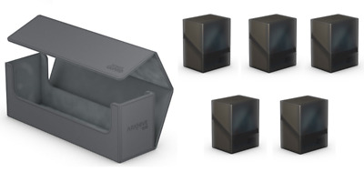 Ultimate Guard Grey/Gray Arkhive 400+ w/5 Onyx Boulder 80+ Deck Cases