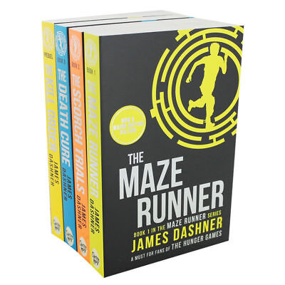 Brand New The Maze Runner 4 Books Collection Set by James Dashner,The Death Cure
