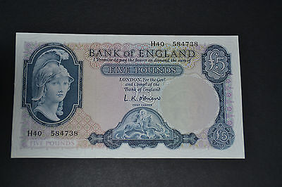 RAR  alte Bank of England five pounds Banknote bankfrisch RAR