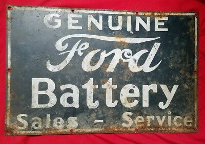 Genuine ford battery sales and services porcelain sign