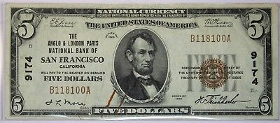 Five Dollar Note Series of 1929 Red Seal Type 1