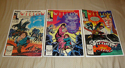 Willow #1-3 (1988) Marvel Comics Lucasfilm Movie Adaptation Full Set FN To VF-