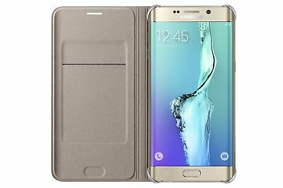 Genuine Official Samsung Galaxy S6 Edge+ Plus Flip Case Cover Wallet – Gold