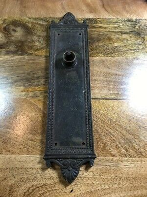 Antique Door Plate Backplate Colonial Trust Building Reading PA Hardware