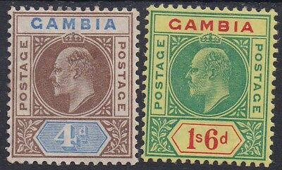 Gambia 1902 Kevii 4D And 1/6 Wmk Crown Ca