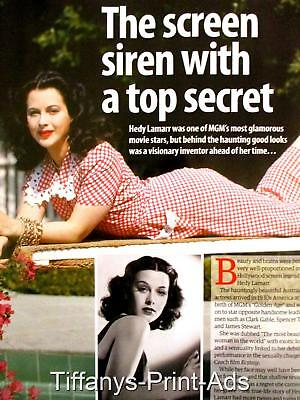 HEDY LAMARR 1930s Actress  2 pg Magazine CLIPPINGS Cuttings Feature Photo
