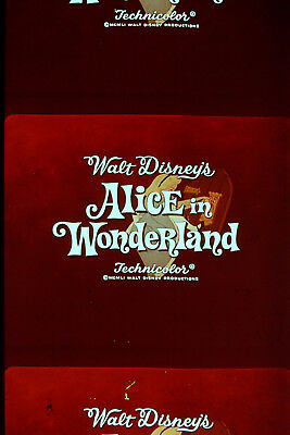 DISNEY Alice in Wonderland 25 35 mm RARE Film Cells DVD Movie * FREE SHIPPING *