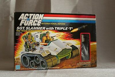 Near Excellent - Action Force - G.I. Joe - SGT SLAMMER with TRIPLE T & Box - UK