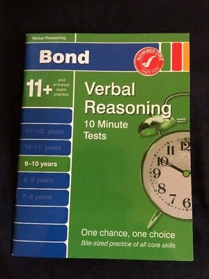 Bond 11+ Verbal Reasoning 9-10  Years