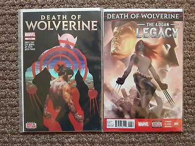 Death of Wolverine issue # 1 + Logan Legacy # 6 VF/NM Marvel Now Comics
