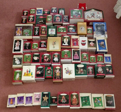 Lot of 55 Hallmark ornaments+ Great Condition!!  Snowmen Santa Madame Alexander+