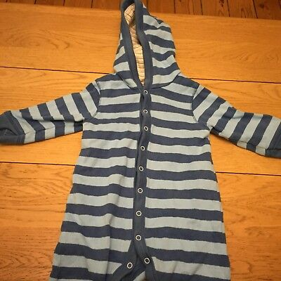 Blue Striped All In One M And S 9-12 Months