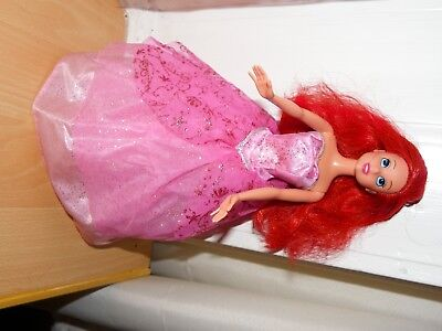 Disney Ariel Doll with Reverseable Dress from Little Mermaid - VGC