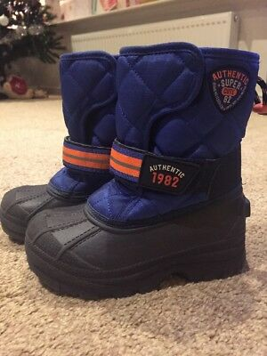 Boys Next Fleece Lined Winter Snow Boots Size 9
