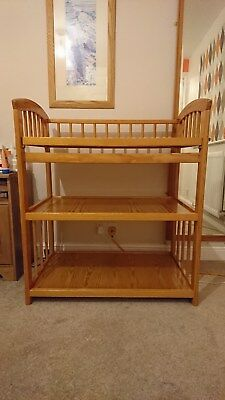 Wooden Baby Changing Table with two storage shelves