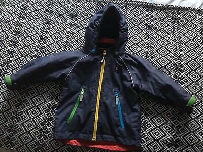 Polarn O Pyret Boys Coat Shell Jacket 1.5-2 Years 18-24 Months Navy Waterproof