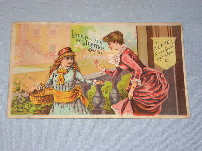old Victorian TRADE CARD ** G.E. Smith Jupiter Canned Goods ** Beloit Wisconsin