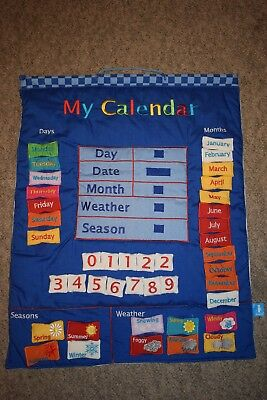 My Calendar Wall Hanging in Blue By Fiesta Crafts
