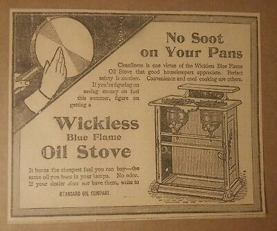 1900 Wickless Blue Flame Oil Stove Ad
