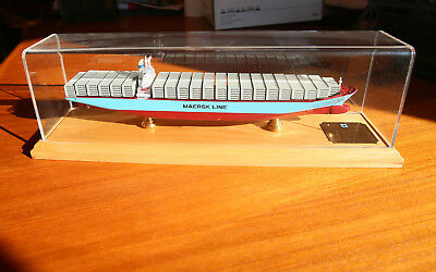 Susan Maersk Container Ship Museum Quality Desktop Model with Display Case