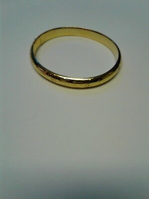 Vintage Antique 12K Gold Filled Etched Bangle Bracelet