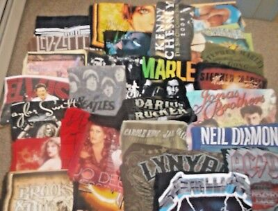 Vintage,retro, modern LOT OF 27 CONCERT BAND t-shirts,rock,country,heavy metal