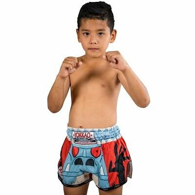 KIDS YOKKAO CARBONFIT MONSTER MUAY THAI BOXING SHORTS (XS / Age 8-11) - UK Stock
