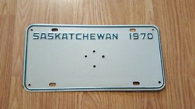 Rare 1970 Governor General Saskatchewan License Plate Mint Original Shape