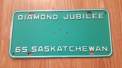 Rare 1965 Governor General Saskatchewan License Plate Mint Original Shape