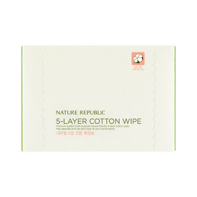 [NATURE REPUBLIC] Beauty tool Natural 5-layer Cotton Wipe(80sheets)