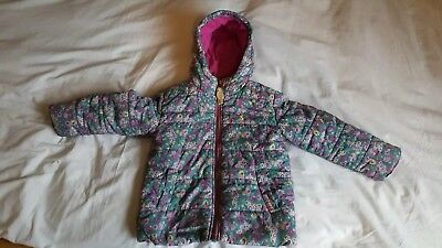 girls Joules ditsy floral coat 3 years vgc