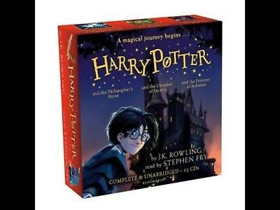 Harry Potter CD AUDIO Books 1-2-3 COLLECTION - 25 CDs by Stephen Fry NEW