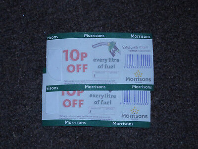 2x Morrisons fuel voucher - 10p off every litre - worth up to £20