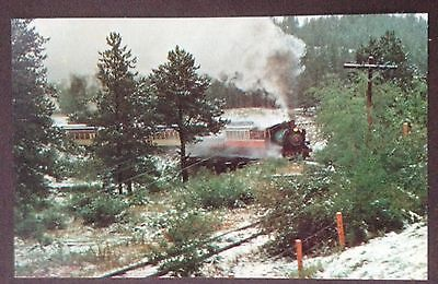 Black Hills Central Railroad No.104 Black Hills South Dakota Train Pc.