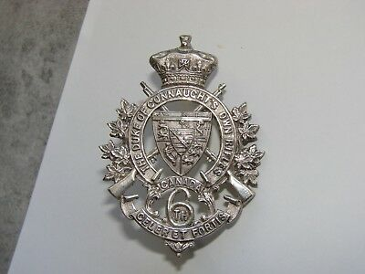 Canada Militia Officer's Cap Badge 6th Regt The Duke of Connaught's Own Rifles.