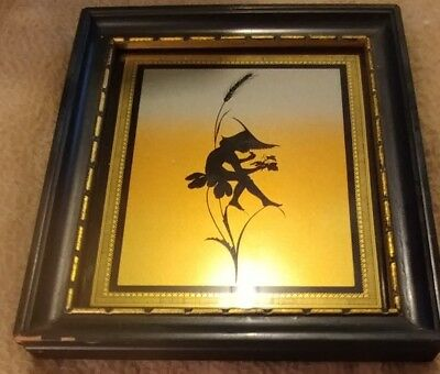 Art Nouveau Framed (Great Deal!!) Silhouette Diefenbach Rainbow Fairy no. 796