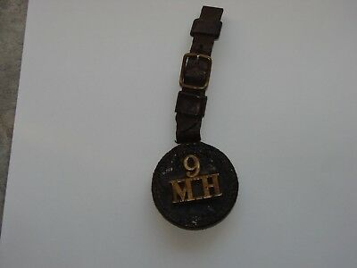 Canada Pre WW1 Militia Watch Fob The 9th Mississauga Horse