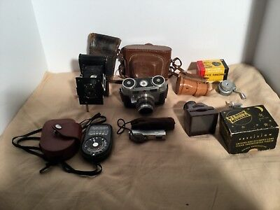 Lot of Cameras and Accesories, Kodak Signet and Pocket.