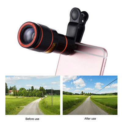 Clip-on 12x Optical Zoom HD Telescope Camera Focus Lens For cell Mobile Phone