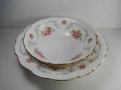 Royal Albert Tranquillity Rimmed Soup bowl and Cereal Bowl.