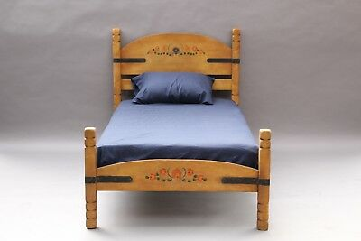Antique Signed Monterey Twin Bed Circa 1930's W Original Finish (10830)