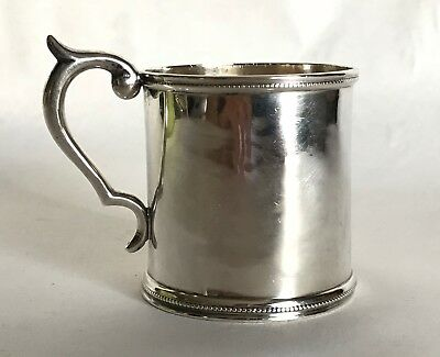 John Cook Coin Silver Christening Baby Cup