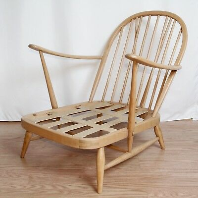 Ercol 203 Windsor Easy Chair Natural Colour Restored Vintage c.1960