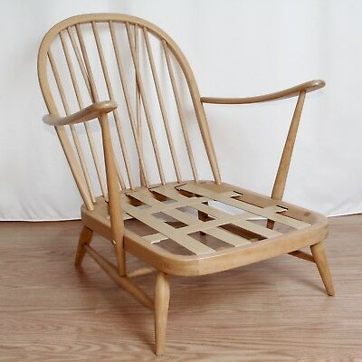 Ercol Windsor Easy Chair 203 Natural Colour Restored Vintage c.1960 A