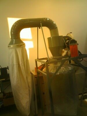 AGET Dust Collector, Single Phase 1/3 HP Baldor motor